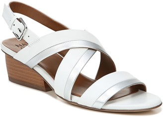 Naturalizer Leather Block-Heel Sandals - Cecilia