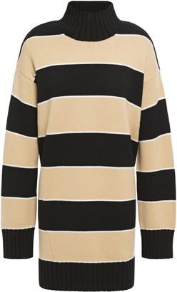 Ninety Percent Striped Merino Wool Turtleneck Sweater