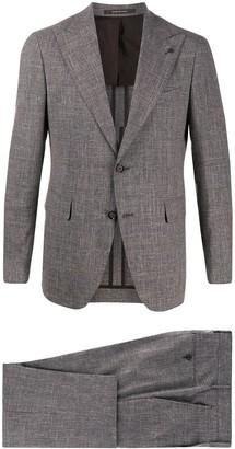 Tagliatore Check-Print Slim-Fit Suit