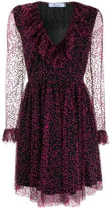 Blumarine dotted mini dress