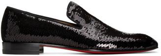 Christian Louboutin Black Scallops Dandelion Loafers