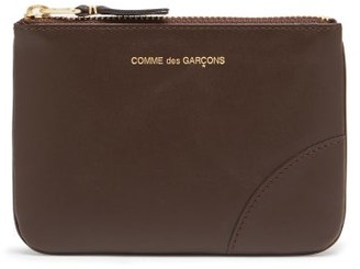 Comme des Garcons Zipped Leather Coin Purse - Brown
