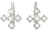 Cathy Waterman Four Diamond Corner Earrings