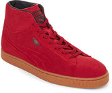 Puma Rio Red Suede Mid Embossed Sneakers