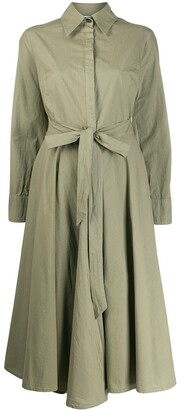 Erika Cavallini Belted Shirt Dress