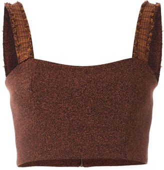Framed Match cropped top