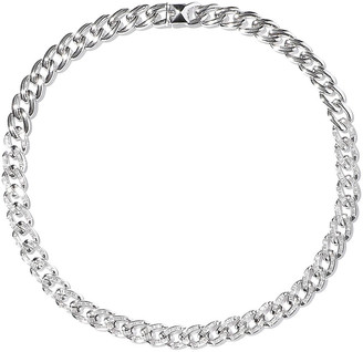 Noir Chain Gang Rhodium-plated Crystal Choker