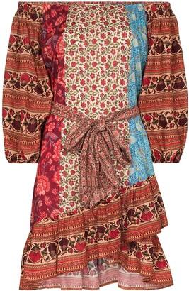 BOTEH Darya off-shoulder patchwork dress