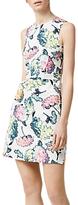 Warehouse Decoupage Floral Dress, Multi