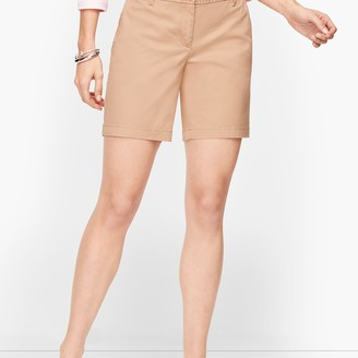 """Talbots Relaxed Chino Shorts - 7"""" - Solid"""