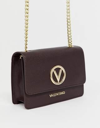 Mario Valentino Valentino By Valentino by Sax brown cross body bag with metal logo