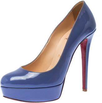 Christian Louboutin Purple Patent Leather Bianca Platform Pumps Size 37.5