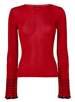 Exclusive for Intermix Shannon Pleated Bell Sleeve Top