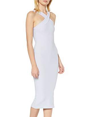 New Look Women's Go Rib X Strap Front Midi (6283664) Dress,(Manufacturer Size:)