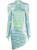 Thumbnail for your product : MAISIE WILEN Abstract-Print Asymmetric Dress