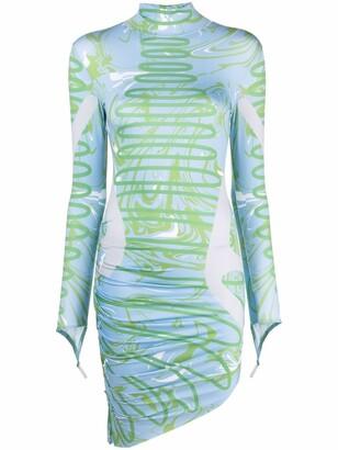 MAISIE WILEN Abstract-Print Asymmetric Dress