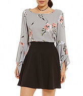 Soprano Floral Bell-Sleeve Top