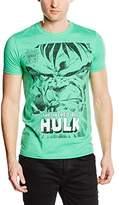 Marvel Men's Angry Hulk Face Short Sleeve T-Shirt