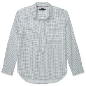Tommy Hilfiger Adaptive Dot-Print Button-Front Top