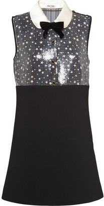 Miu Miu Star Motif Sequinned Mini Dress