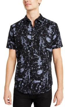 INC International Concepts Inc Men's Paint Splatter Shirt, Created for Macy's