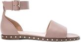 Valentino Leather Soul Rockstud Flat Sandals