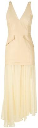 Andrea Bogosian Midi Leather Dress