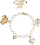 Monsoon Enchanted Charm Pearl Bracelet & Ring Set