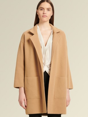 DKNY Three-quarter Sleeve Open Front Jacket