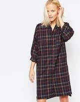 NATIVE YOUTH Twill Check Shirt Dress