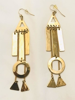 Robert Lee Morris Gold Plated Long Chandelier Drop Earrings RARE