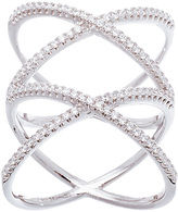 Bliss Cubic Zirconia & Sterling Silver Double-X Ring
