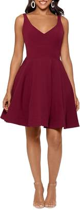 Xscape Evenings V-Neck Fit & Flare Dress