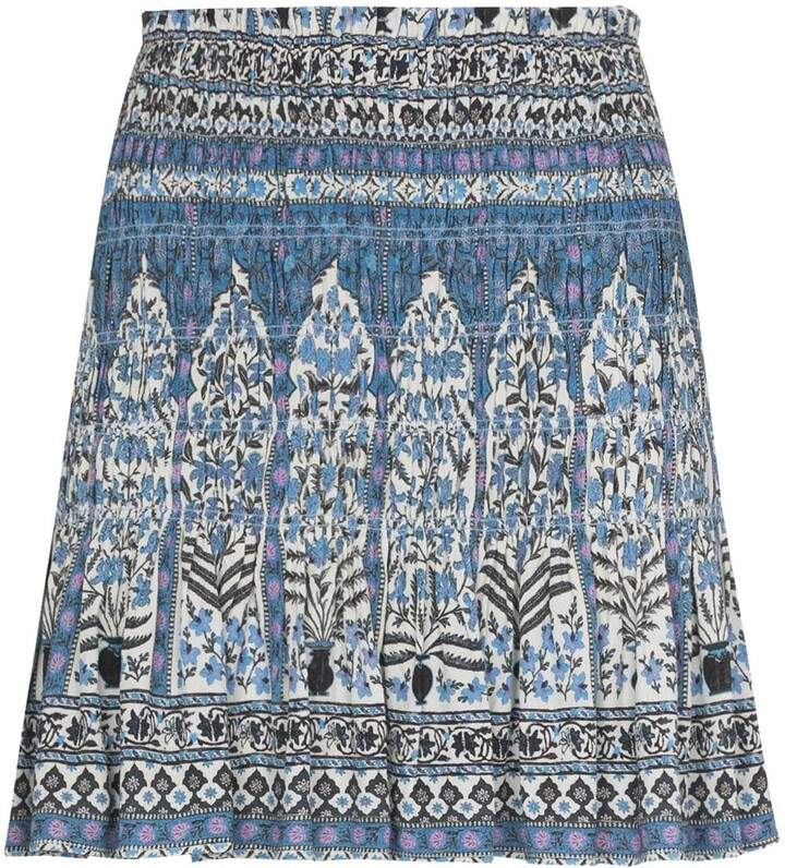 BOTEH Floral-Print Pleated Miniskirt