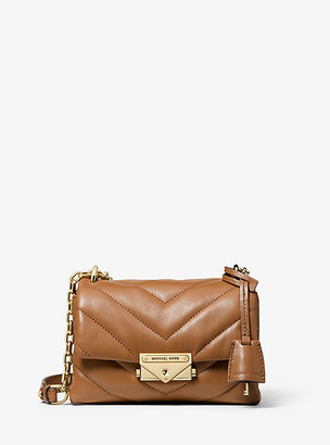 MICHAEL Michael Kors MK Cece Extra-Small Quilted Leather Crossbody Bag - Acorn - Michael Kors