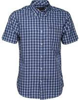 Ben Sherman Short Sleeve Twin Check Shirt Blue