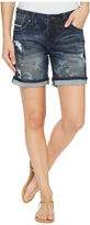 Jag Jeans Alex Relaxed Boyfriend Shorts in Camo Printed Denim Women's Shorts