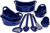 Rachael Ray Blue 12-Piece Round Bakeware Set