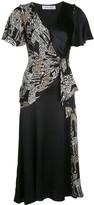 Prabal Gurung wrap-front silk dress