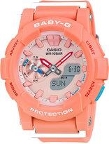 Baby-G Women's Analog-Digital Peach Resin Strap Watch 44x49mm BGA185-4A