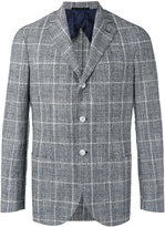Barba plaid blazer - men - Silk/Cotton/Linen/Flax/Polyester - 48