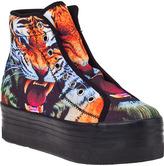 Jeffrey Campbell Homg Platform Sneaker Black Canvas