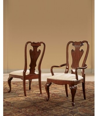 Astoria Grand Staas Splat Back Arm Upholstered Dining Chair (Set of 2) Astoria Grand