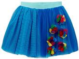 Hannah Banana Chiffon Flower Applique Tutu Skirt (Toddler Girls)
