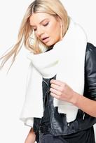 Boohoo Sadie Chunky Ribbed Wool Oversized Scarf