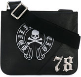 Philipp Plein embroidered logo pouch messenger - men - Leather/metal - One Size