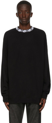 Acne Studios Black Motif Mock Neck Sweatshirt