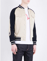 Evisu Souvenir cotton bomber jacket