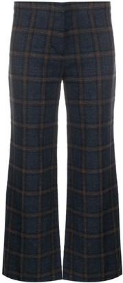 Masscob Check Patterned Flared Trousers