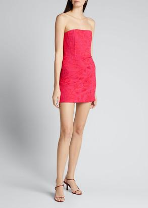 Alice + Olivia Perla Boned Strapless Pleated Dress